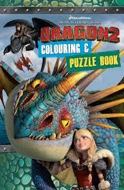 train dragon 2 colouring u0026 puzzle book mile