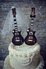 electric guitar wedding cake topper guitar groom rock