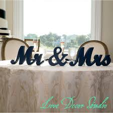 mr mrs wedding table decorations mr and mrs large wooden letters jangler