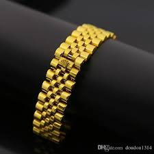 bracelet gold white gold images Best wide watch chain imperial crown bracelets bangles for men jpg
