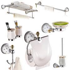 Wall Mount Bathroom Accessories by Brass U0026silver Polished Bathroom Accessories Sets Diamond U0026crystal