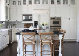 best granite for white dove cabinets farmhouse kitchen renovation from dated to gorgeous