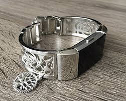 life tracker bracelet images Silver metal band for fitbit charge 2 fitness tracker flowers