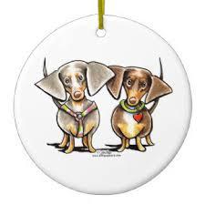 dapple dachshund christmas tree decorations u0026 ornaments zazzle co uk