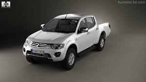mitsubishi triton 2014 360 view of mitsubishi l200 triton double cab hpe 2014 3d model