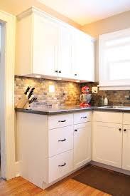 slate kitchen backsplash small kitchen remodel featuring slate tile backsplash remodelaholic