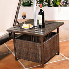 umbrella stand table base patio umbrella stand wicker steel side table base holder outdoor