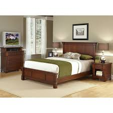 Shop Home Styles Aspen Rustic Cherry King Bedroom Set At Lowescom - Jordans furniture aspen bedroom set