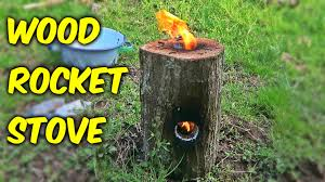 How To Build A Stump by How To Make A Wood Rocket Stove Youtube
