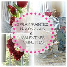 spray painted mason jars valentine u0027s decorating ideas debbiedoo u0027s