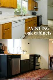 Oak Cabinet Kitchen Makeover - kitchen makeover painting oak cabinets step by step and new