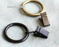 Antique Brass Curtain Rings Steel Curtain Etsy
