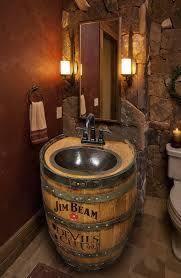 Man Cave Bathrooms Fregadero De Barril De Whiskey Martillado De Por Whiskeycartel