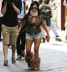 Neck Brace Meme - pictures of snooki wearing a neck brace and photoshopped versions of