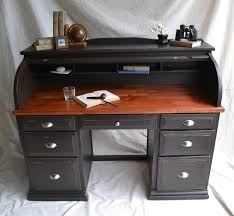nickel plated desk l black painted roll top desk plans the desk has seven drawers each