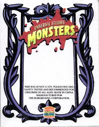 Burger K Hen Toys And Stuff Burger King Universal Studios Monsters 1997 The
