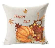Thanksgiving Pillow Covers Throw Pillow Cover Fall Autumn Thanksgiving Harvest Pumpkin Indoor