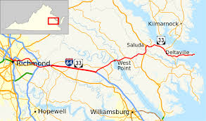 Williamsburg Virginia Map by Virginia State Route 33 Wikipedia