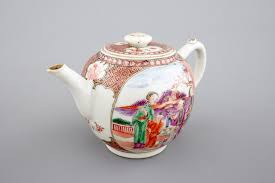 mandarin porcelain a export porcelain mandarin pattern teapot 18th c rob