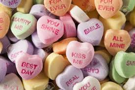 s day candy hearts colorful candy conversation hearts for s day stock photo