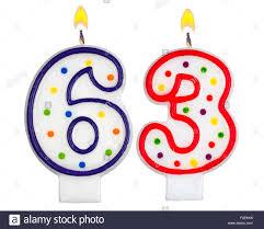 number birthday candles birthday candles number sixty three stock photo 86374604 alamy