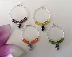 autumn wine charms etsy