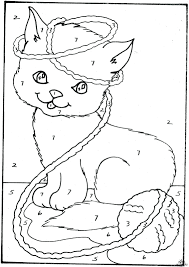 Color By Disney Coloring Page Marvelous Cat Color By Number Disney Sheets