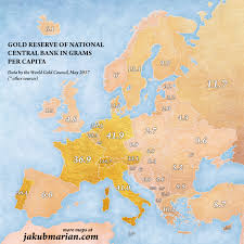 Map If Europe Where Are Slavs On U0027gold Reserve U0027 Map Of Europe
