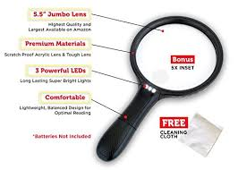 light magnifying glass crafts 5 5 inch large led handheld 2x magnifier with 5x zoom best
