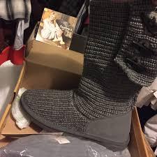 womens knit boots 55 bearpaw boots bearpaw knit 658w gray ii size 11