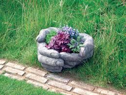 Large Planter Pot by Giant Cupped Hands Stone Plant Pot Large Garden Planter S U0026s Shop