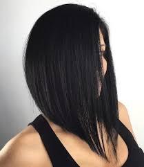 one side stack sassy bob bllack hair 40 chic angled bob haircuts