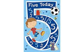 boy u0027s 5 year old football birthday card amazon co uk office products