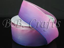 ombre ribbon ombre ribbon wired edge purple pink width 1 1 2 inch