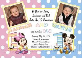 twins 1st birthday invitation cards www kudan info