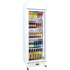 schmick glass door upright commercial energy saving bar fridge