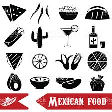 jeux de cuisine libre jeu de cuisine mexicaine thème dicônes simples eps10 cliparts