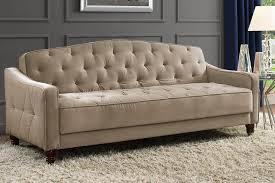Diamond Tufted Sofa by Novogratz Vintage Tufted Sofa Sleeper Ii Multiple Colors Taupe