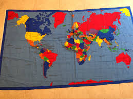 World Map Fabric by Large World Map Fabric Panel Supply Countries Asia Africa From