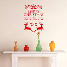 Christmas Decorations Red Deer by 42 30cm Merry Christmas U0026 Happy New Year Red Deer Christmas Wall