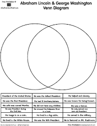 abraham lincoln u0026 george washington presidents venn diagram a to