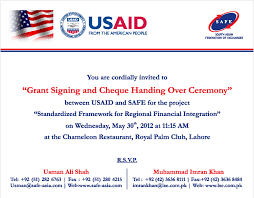 An Invitation Card Grant Signing Ceremony Marketing Material