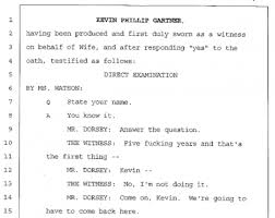 shortest deposition ever above the law