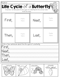 first grade writing paper printable life cycle of a butterfly cut and paste insects pinterest kindergarten science