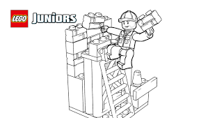 lego juniors construction worker coloring page coloring pages