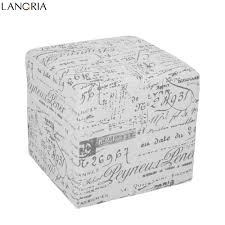 storage cube ottoman aliexpress com buy langria 3 piece french script patterned