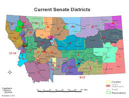 Map Montana Montana Legislature Districting And Apportionment Interim