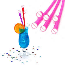 funny straws bachelorette party drinked decoration need