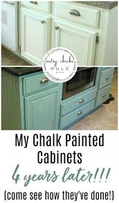 best company to paint kitchen cabinets my chalk painted cabinets 4 years later how did they do
