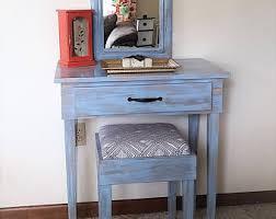 Blue Vanity Table Floating Dressing Table